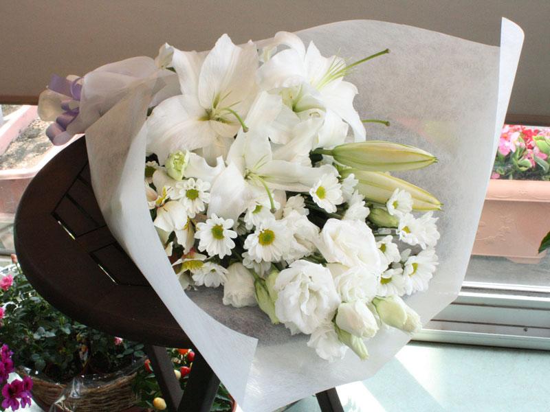 シンプルなお供え花束 BQ-012